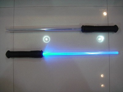 blue red green hue flashing sticks