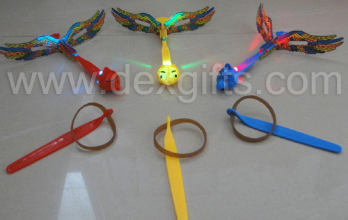 angry bird led flying arrow helicopter