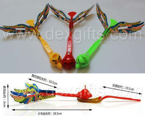 the size of the Angry bird style flying arrow toys