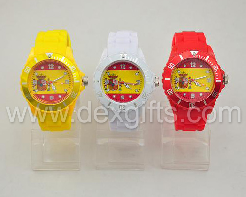 silicone watches flag collection spain