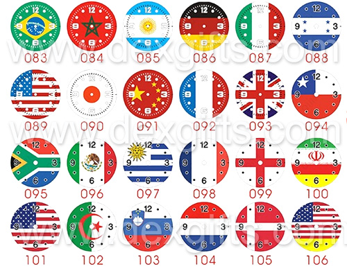 watch face with all national flags
