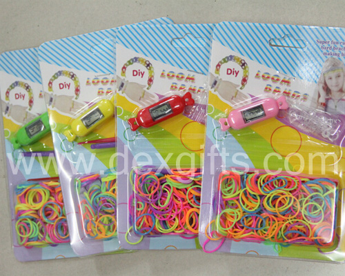 loom band watch blister card packing,Diy loom band kit