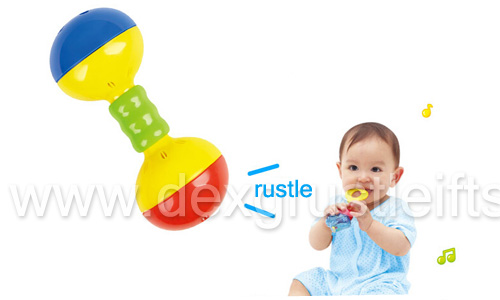 kid toy funny colorful baby dumbbell toy very cute
