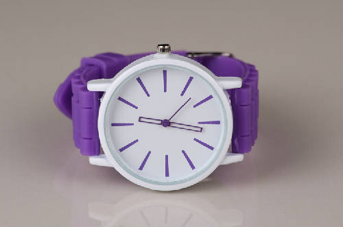 fashion candy color jelly watches big hour marks colorful dial