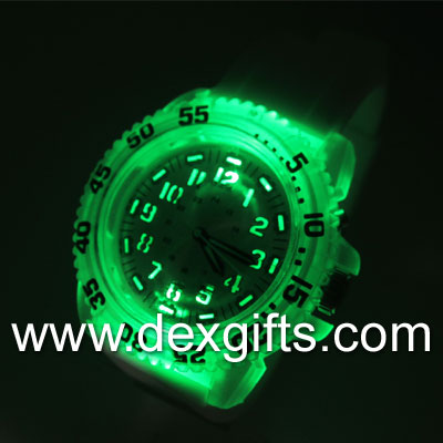 silicone watches glowing in the dark