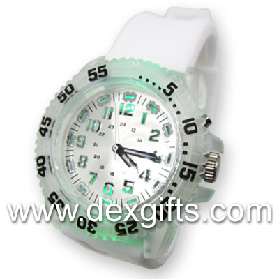 flash led light watch