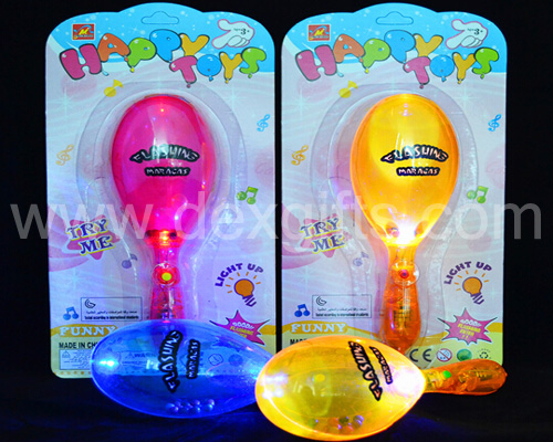 flashing shaking bell hammers happy toys funny light up toys maracas