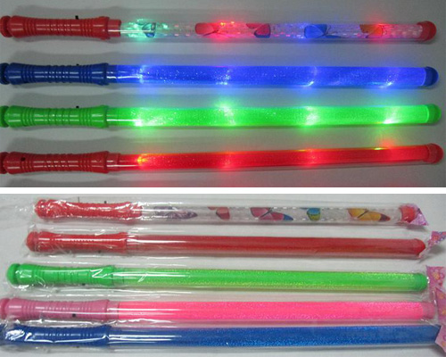 seven colors flashing sticks party props magic wands for girls
