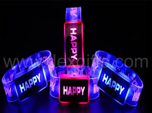 flashing wristbands in dark