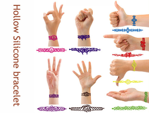 hollow silicone bracelet