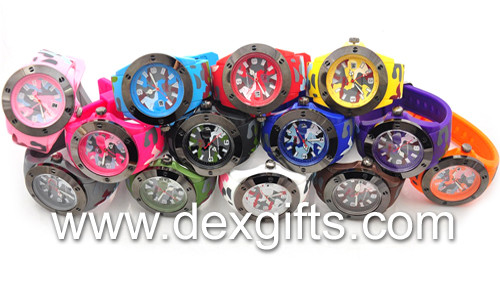 Camouflage army silicone watch
