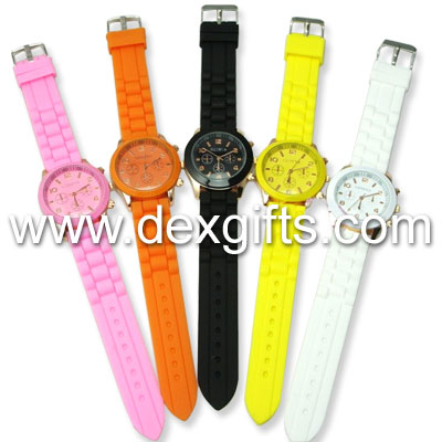 jelly bean watches with rose gold watch case
