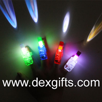 laser finger beams blister packaging led finger flashlights 4 colors