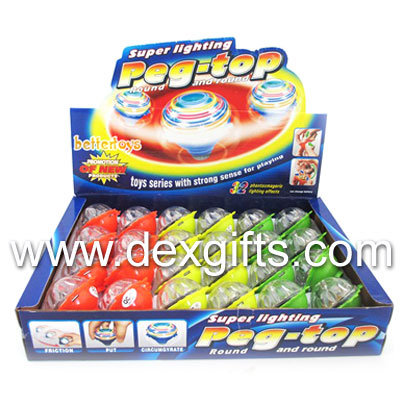 led inertial gyro toy gyro inertial friction tops