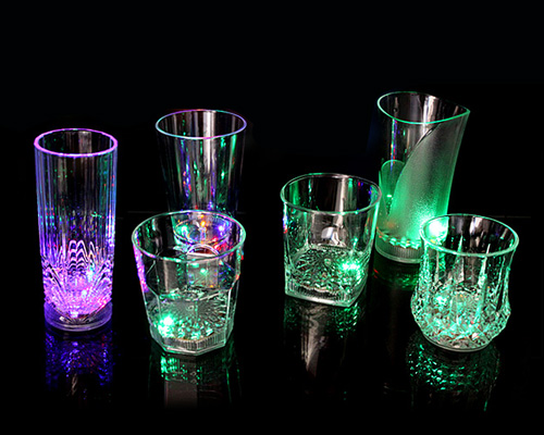 flash light up cups flashing shots light led bar night