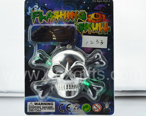 colorful light flashing horror halloween led skull bones