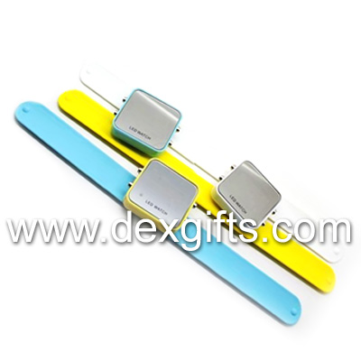 led watch head and slap bands