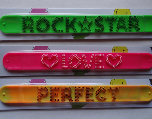 blister packing silicone slap bands personalized logo