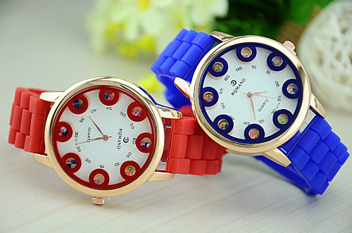 unique silicone lady watches on sale 2015