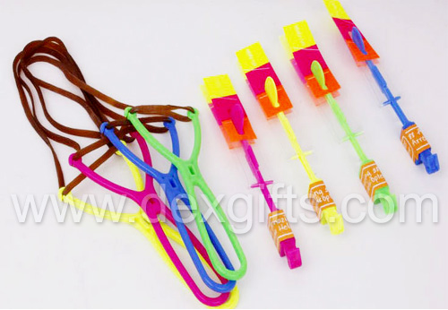 Y shape rubber band helicopters red green yellow and blue coolor