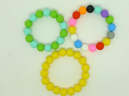 silicone beaded bracelet