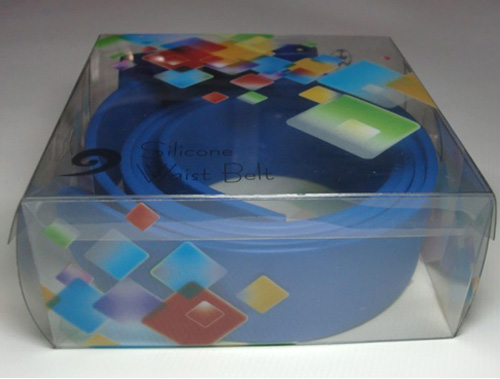 blue silicone belt in pvc box