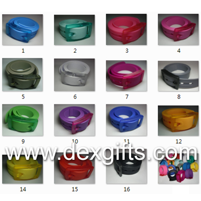fashion new design plastic silicone belt