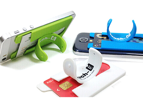 silicone card holder cell phone holder