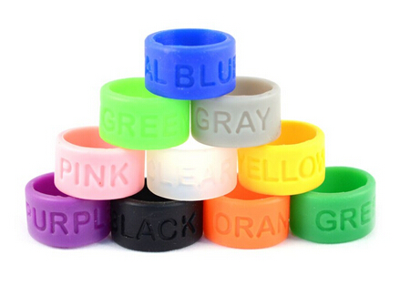personalized colorful soft silicone rubber finger rings