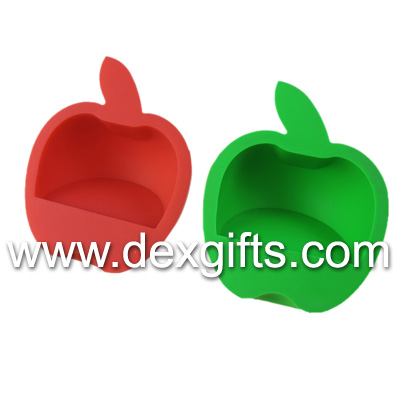 silicone holder for ipad apple shaped rubber holder