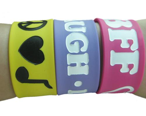 slap bracelet printed silicone slap wrist bands