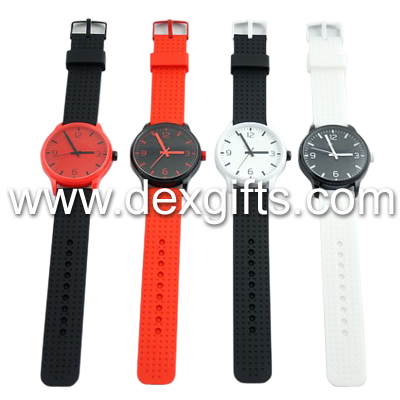 cheap silicone watch japan movement concise silicone alloy watches