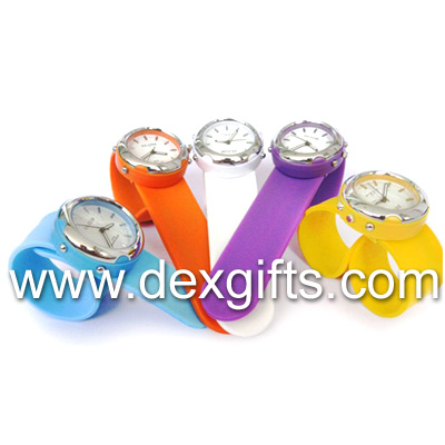 Detachable slap watch, changeable watch face