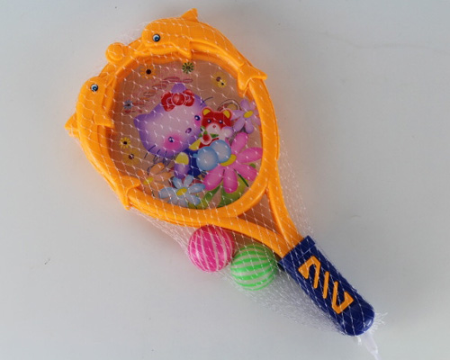 orange tennis gifts plastic tennis racket toy play game set