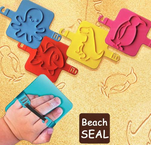 children beach seal play with sand print out variety patterns