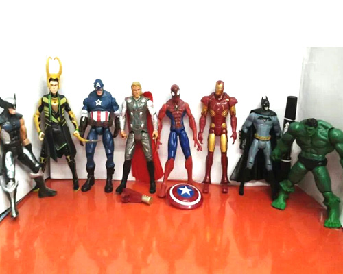 captain america wolverine thor spiderman batman 14cm action figures toy gifts
