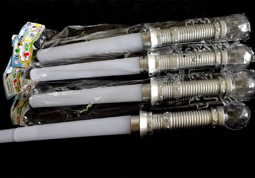 Extended Collapsed Light Up Swords With A Led Crystal Ball