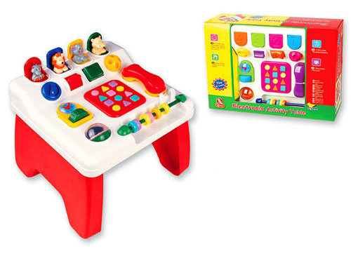 electronic activity table touch and learn activity desk for baby
