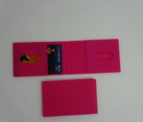 flexible soft wallet silicone business card holders for grils washable wallets