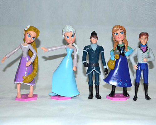 frozen anna elsa hans kristoff sven olaf pvc action figures toys classic toys
