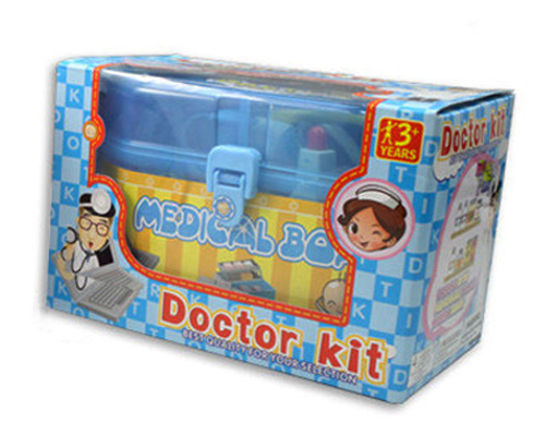 plastic pretend play medical box doctor kit for kids children
