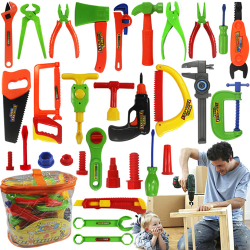 childrens pretend play construction tools preschool toys