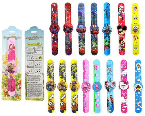 pvc slap watch for kids disney slap band watch kiddie-sized slap watches