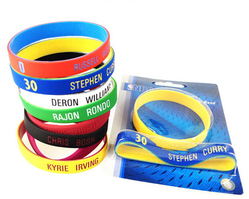 silicone bracelet rubber wristband blister packing