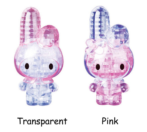 beautiful 3d crystal puzzle rabbit melody new model diy jigsaw plastic iq toy