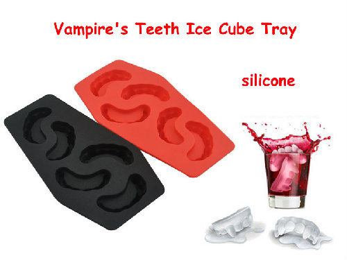 creative frozen teeth ice cube tray silicone vampire's teeth shape ice cream maker mold tray cube diy party bar
