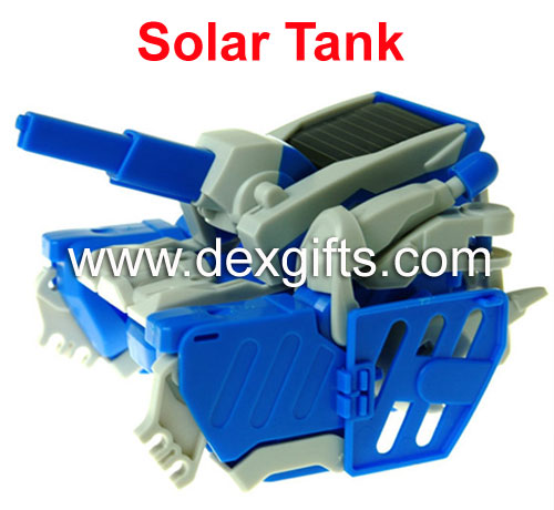 solar robot assembled into different shapes Tank