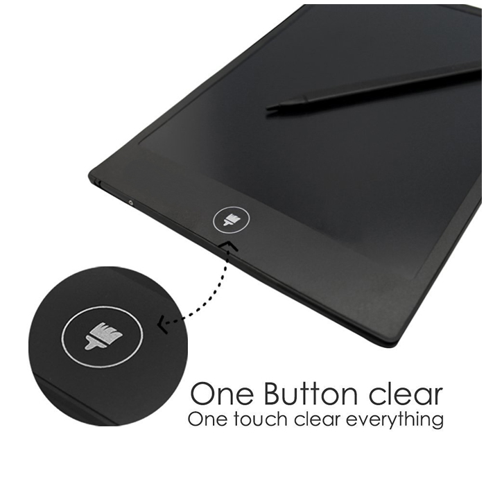 One touch button erases notes instantly
